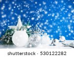 silver and white christmas... | Shutterstock . vector #530122282