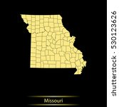 map of missouri | Shutterstock .eps vector #530123626