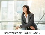 portrait of happy business... | Shutterstock . vector #530126542