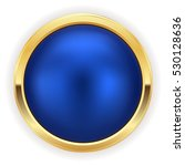 blue christmas button with gold ... | Shutterstock .eps vector #530128636
