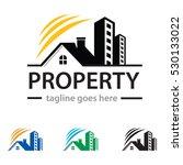 property logo template design... | Shutterstock .eps vector #530133022