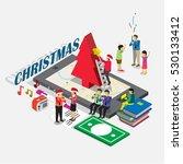 christmas event for business... | Shutterstock .eps vector #530133412