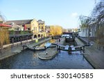 water gate and boats in the... | Shutterstock . vector #530140585