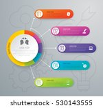 infographic design vector and... | Shutterstock .eps vector #530143555