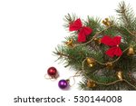 branch of christmas tree with... | Shutterstock . vector #530144008