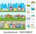 big city infographics with... | Shutterstock . vector #530158822
