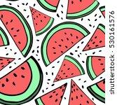 illustration of watermelon... | Shutterstock .eps vector #530161576