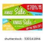 xmas sale  special offer  70 ... | Shutterstock .eps vector #530161846