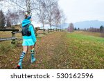 sporty young blond girl dressed ... | Shutterstock . vector #530162596