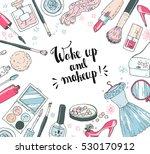 hand darwn vector cosmetic... | Shutterstock .eps vector #530170912