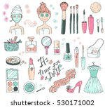 """hand darwn set """"time for a date""""... 