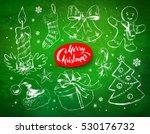christmas vintage line art...