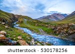 mountain river stream landscape | Shutterstock . vector #530178256