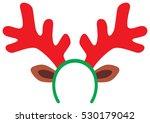funny christmas reindeer horns | Shutterstock . vector #530179042