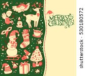 christmas greeting card... | Shutterstock .eps vector #530180572