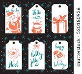 collection of vector christmas... | Shutterstock .eps vector #530180926