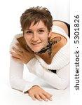 posing young brunette | Shutterstock . vector #5301826
