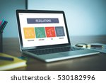 regulations icon concept on... | Shutterstock . vector #530182996