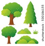 different types of tree... | Shutterstock .eps vector #530186155
