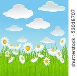 summer vector background. | Shutterstock .eps vector #53018707