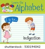 flashcard letter i is for... | Shutterstock .eps vector #530194042