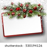 Christmas Card With Fir...