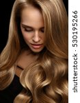 volume hair. beautiful woman...   Shutterstock . vector #530195266