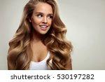 hair beauty. beautiful woman... | Shutterstock . vector #530197282
