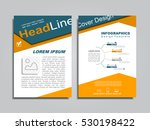 brochure design layout with... | Shutterstock .eps vector #530198422