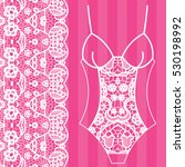 body. lingerie. lacy beautiful... | Shutterstock .eps vector #530198992