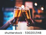 two friends toasting with... | Shutterstock . vector #530201548
