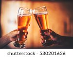 two friends toasting with... | Shutterstock . vector #530201626