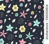seamless pattern with flowers.... | Shutterstock .eps vector #530203816