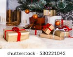 presents and gifts under... | Shutterstock . vector #530221042