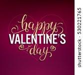 funny valentines card. big... | Shutterstock .eps vector #530221765