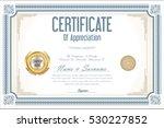 certificate retro design... | Shutterstock .eps vector #530227852