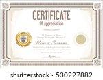 certificate retro design... | Shutterstock .eps vector #530227882