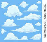 vector cartoon clouds in blue... | Shutterstock .eps vector #530228386