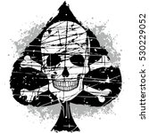ace of spades with skull | Shutterstock .eps vector #530229052