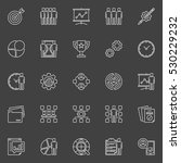 project management line icons.... | Shutterstock .eps vector #530229232