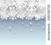 Vector Clouds Of Snowflakes On...