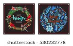 christmas and new year's... | Shutterstock .eps vector #530232778