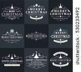 set of merry christmas and... | Shutterstock .eps vector #530233492
