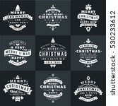 set of merry christmas and... | Shutterstock .eps vector #530233612
