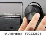 closeup male hand turning blank ... | Shutterstock . vector #530233876