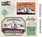 post stamp set with the... | Shutterstock .eps vector #530235262