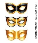 set of golden carnival venetian ... | Shutterstock .eps vector #530235442
