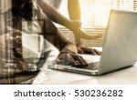 double exposure of business... | Shutterstock . vector #530236282