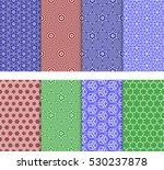 Set Of 8 Seamless Geometric...