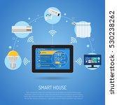 smart house and internet of... | Shutterstock .eps vector #530238262